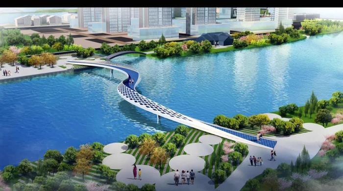大溪河人行桥桥梁名称  盛邀广大热心群众为新桥命名